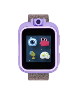 iTouch PlayZoom Pink and Purple Smartwatch for Kids Glitter Print 42mm