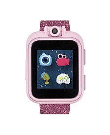 PlayZoom Pink Smartwatch for Kids Rainbow Glitter Print 42mm