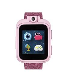 Boys Girls PlayZoom Pink Smartwatch for Kids Rainbow Glitter Print 42mm