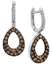 Diamond Teardrop Drop Earrings (1-1/5 ct. t.w.) in 14k White Gold