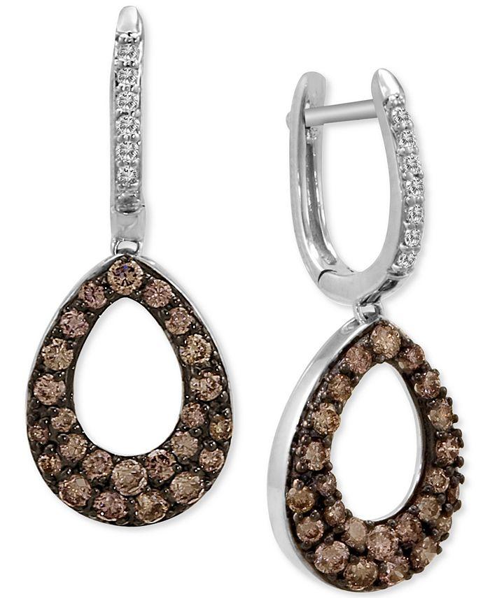 Le Vian - Diamond Teardrop Drop Earrings (1-1/5 ct. t.w.) in 14k White Gold