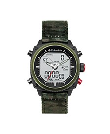 Men's Ridge Runner Green Camo Nylon Analog-Digital Watch 45mm