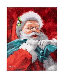 Inc Christmas Throw Happy Santa