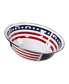 Stars Stripes Enamelware Serving Bowl