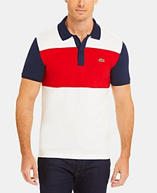 Men's Colorblock Slim Fit Short Sleeve Polo Shirt