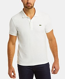 Men's Regular Fit Short Sleeve Cotton Fleece Polo Shirt