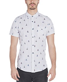 Men's Pismo Regular-Fit Sailboat-Print Oxford Shirt