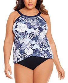 Plus Size Underwire Tankini Top & Bottoms, Created for Macy's