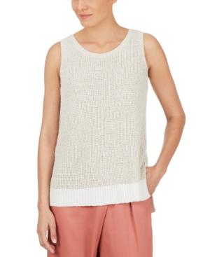 Textured Sleeveless Sweater