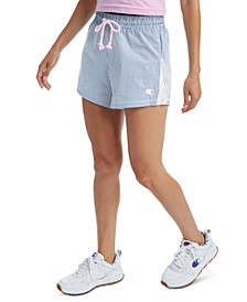 Women's Seersucker High-Rise Shorts