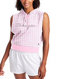 Champion Women's Checked Sleeveless Hoodie