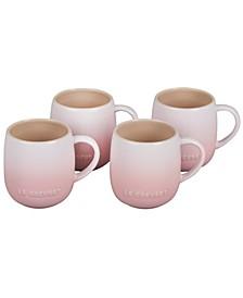 Set of 4 Stoneware Mugs, 13-Oz.