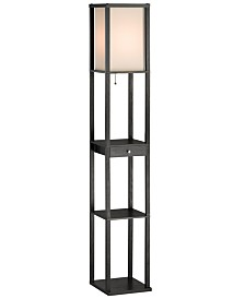 Adesso Wright Tall Shelf Floor Lamp - Lighting & Lamps - Home - Macy\'s