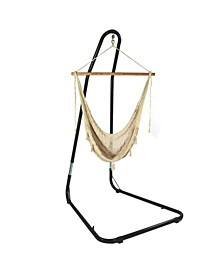 Extra Large Mayan Hammock Chair with Adjustable Stand