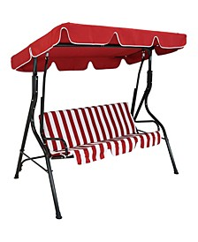 Outdoor Adjustable Canopy and Durable Steel Frame 2-Person Porch Swing