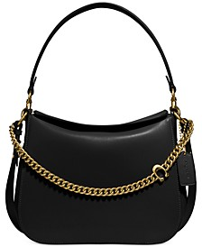Leather Signature Chain Hobo