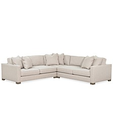 Gabria 3-Pc. Fabric Sectional Sofa, Created for Macy's