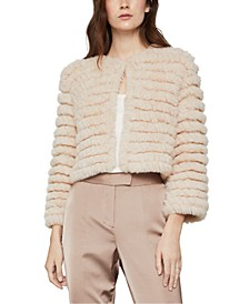 Cropped Faux-Fur Jacket