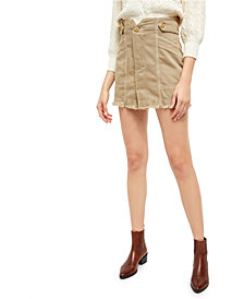 Free People Alpha Utility Contrast-Seam Mini Skirt