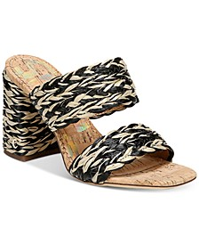 Women's Estella Woven Double-Band Dress Sandals