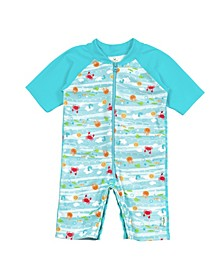 Toddler Girls and Toddler Boys Swim Sun Suit