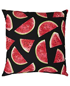 """Watermelon Polyester Filled Decorative Pillow, 22"""" x 22"""""""