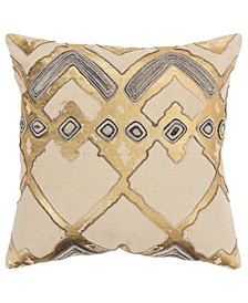 "Geometric Decorative Pillow Cover, 20"" x 20"""