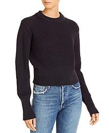 Luna Mozart Cotton Waffle-Knit Sweater