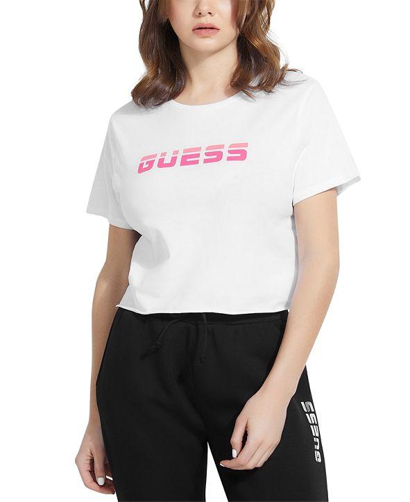 GUESS Mesh Back Crop T-Shirt