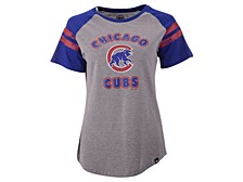 Women's Chicago Cubs Fly Out Raglan T-shirt