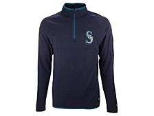 Men's Seattle Mariners Brushback Quarter Zip Pullover