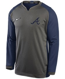 Men's Atlanta Braves Authentic Collection Thermal Crew Sweatshirt