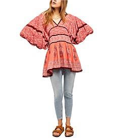 Luna Scarf Print Tunic Top