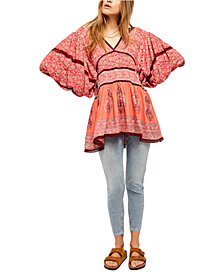 Free People Luna Scarf Print Tunic Top