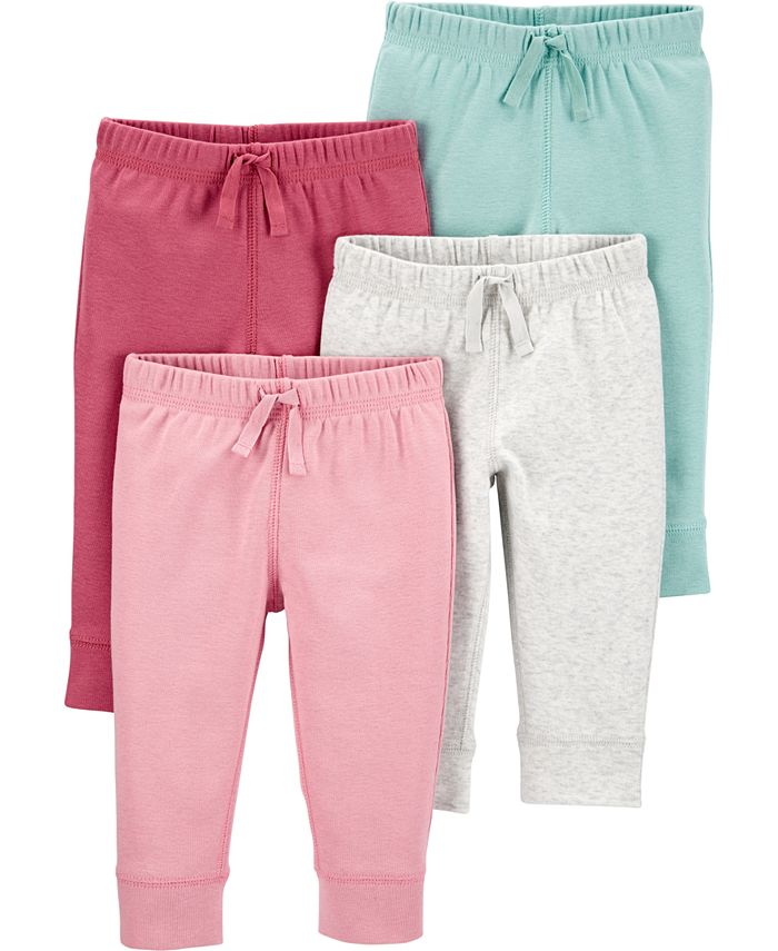 Carter's - Baby Girls 4-Pk. Cotton Pull-On Pants