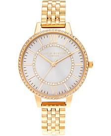 Women's Wonderland Gold-Tone Stainless Steel Bracelet Watch 34mm