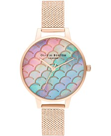 Women's Under The Sea Rose Gold-Tone Stainless Steel Mesh Bracelet Watch 34mm