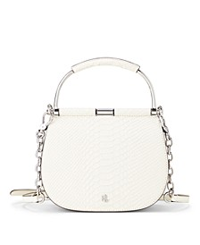 Matte Python Embossed and Suede Mini Mason Satchel