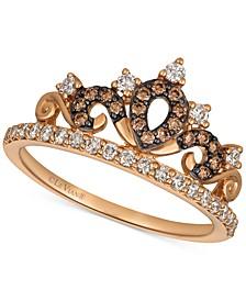Chocolatier® Diamond Tiara Ring (3/8 ct. t.w.) in 14k Rose Gold