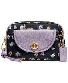 Floral Print Nylon Belt Bag