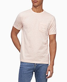 Men's Monogram Logo Slub Crewneck Pocket T-Shirt