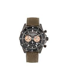 Men's Atlantis Diver Multi Leather Strap Watch, 44mm