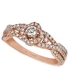 Le Vian Diamond Diamond Ring (5/8 ct. t.w.) in 14k Rose Gold