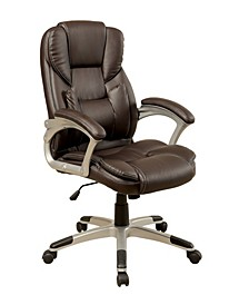 Grise Leather Office Chair