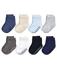 Baby Boys and Girls Socks with Non-Skid Gripper for Fall Resistance