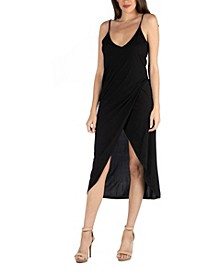 Cami Top Strapped Midi Wrap Dress