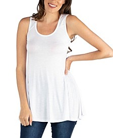 Women's Scoop Neck Sleeveless Tunic Top