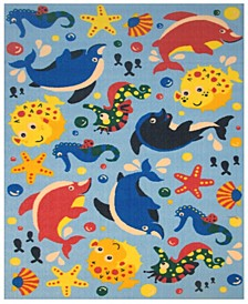 "Fun Time Aquarium 19"" x 29"" Area Rug"