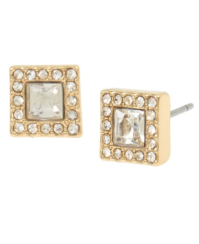 "Jessica Simpson - Halo Square Stud Earrings, 0.25"""