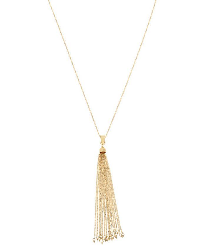 "Jessica Simpson - Tassel Pendant Necklace, 29"" + 2"" Ext"
